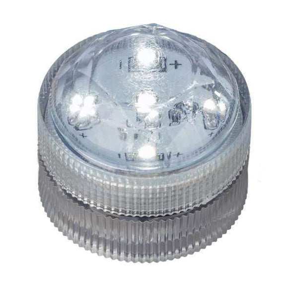 White Five LED Submersible Top View In Light