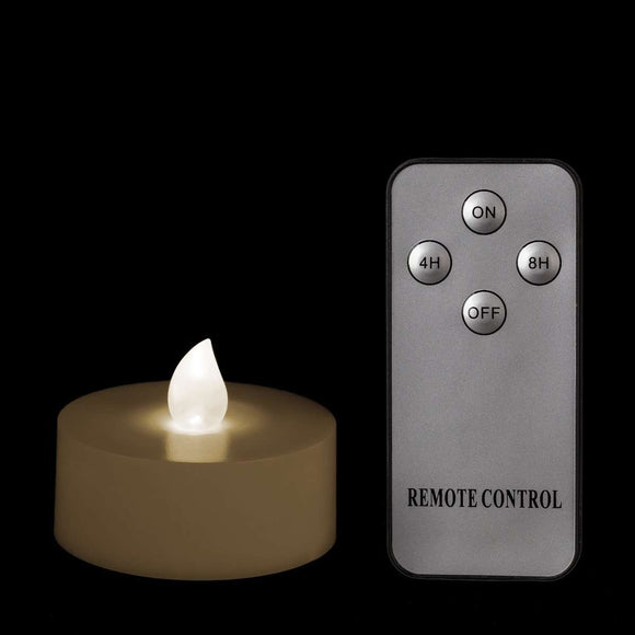 Warm White Remote Controlled Tealights - Pack of 4 w/ Remote - IntelliWick