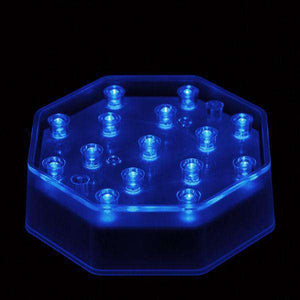 Blue LED Octagon Light Base - IntelliWick