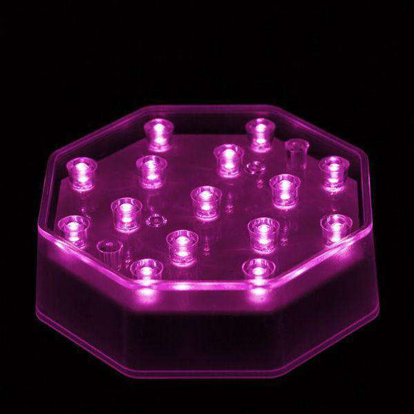 Pink LED Octagon Light Base - IntelliWick