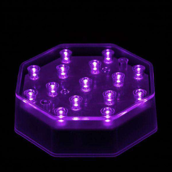 Purple LED Octagon Light Base - IntelliWick