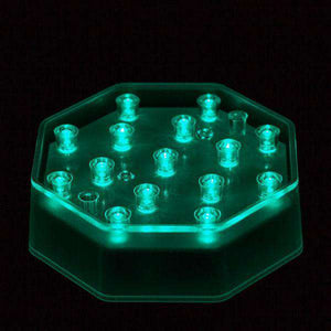 Teal LED Octagon Light Base - IntelliWick