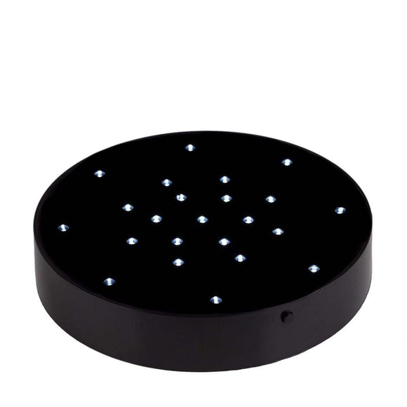 Black or White LED Circular Light Base - IntelliWick