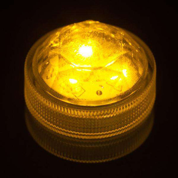 Amber Three LED Submersible Top View