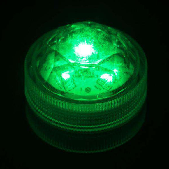 Green Three LED Submersible Top View