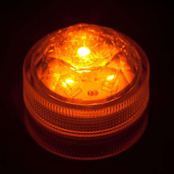 Orange Three LED Submersible Top View
