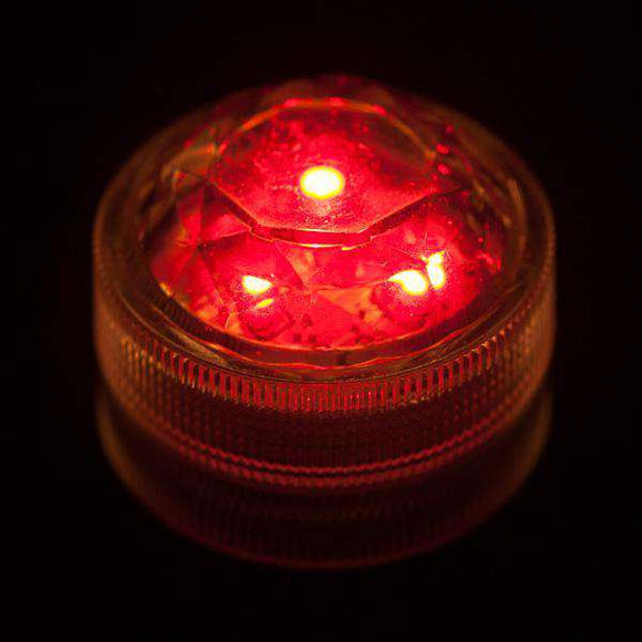 Red Three LED Submersible Top View