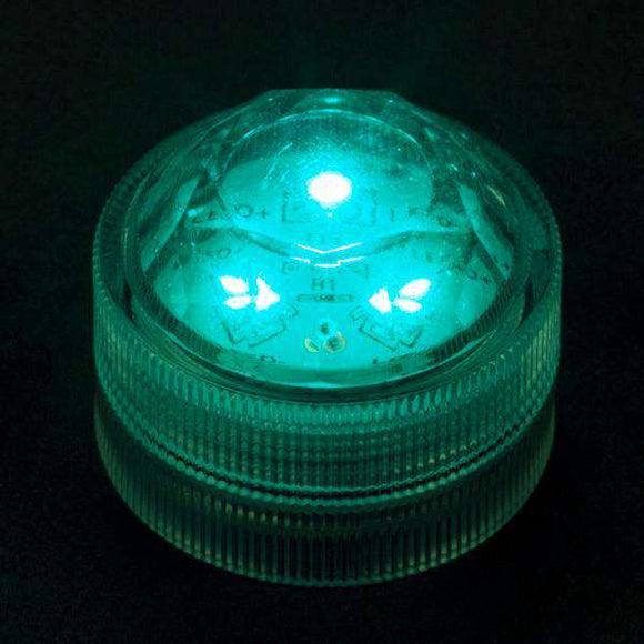 Teal Three LED Submersible Top View