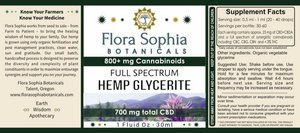 Full Spectrum Hemp Glycerine: 800mg in Organic Vegetable Glycerine