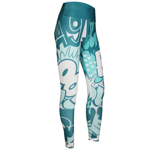 Comics Legging Bleu