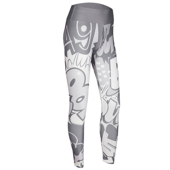 Comics Legging Gris clair