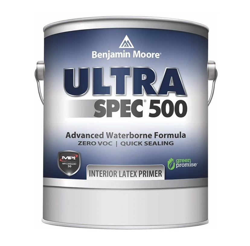 Gallon of Benjamin Moore Ultra Spec Primer, available at John Boyle Decorating Centers in CT.