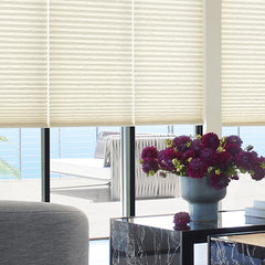 Hunter Douglas Duette Honeycomb window shades, available at John Boyle Decorating Centers in Connecticut.