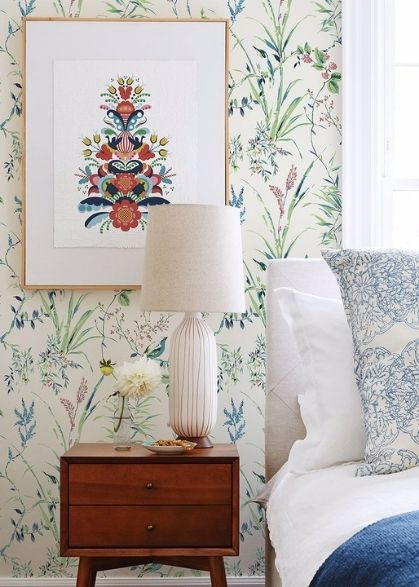 Bedroom featuring wallpaper from Brewster Home Fashions