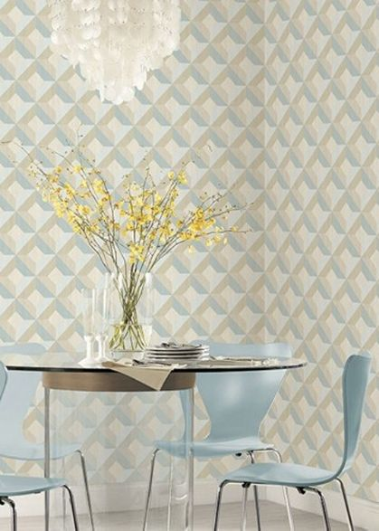Dining area featuring wallpaper from Norwall