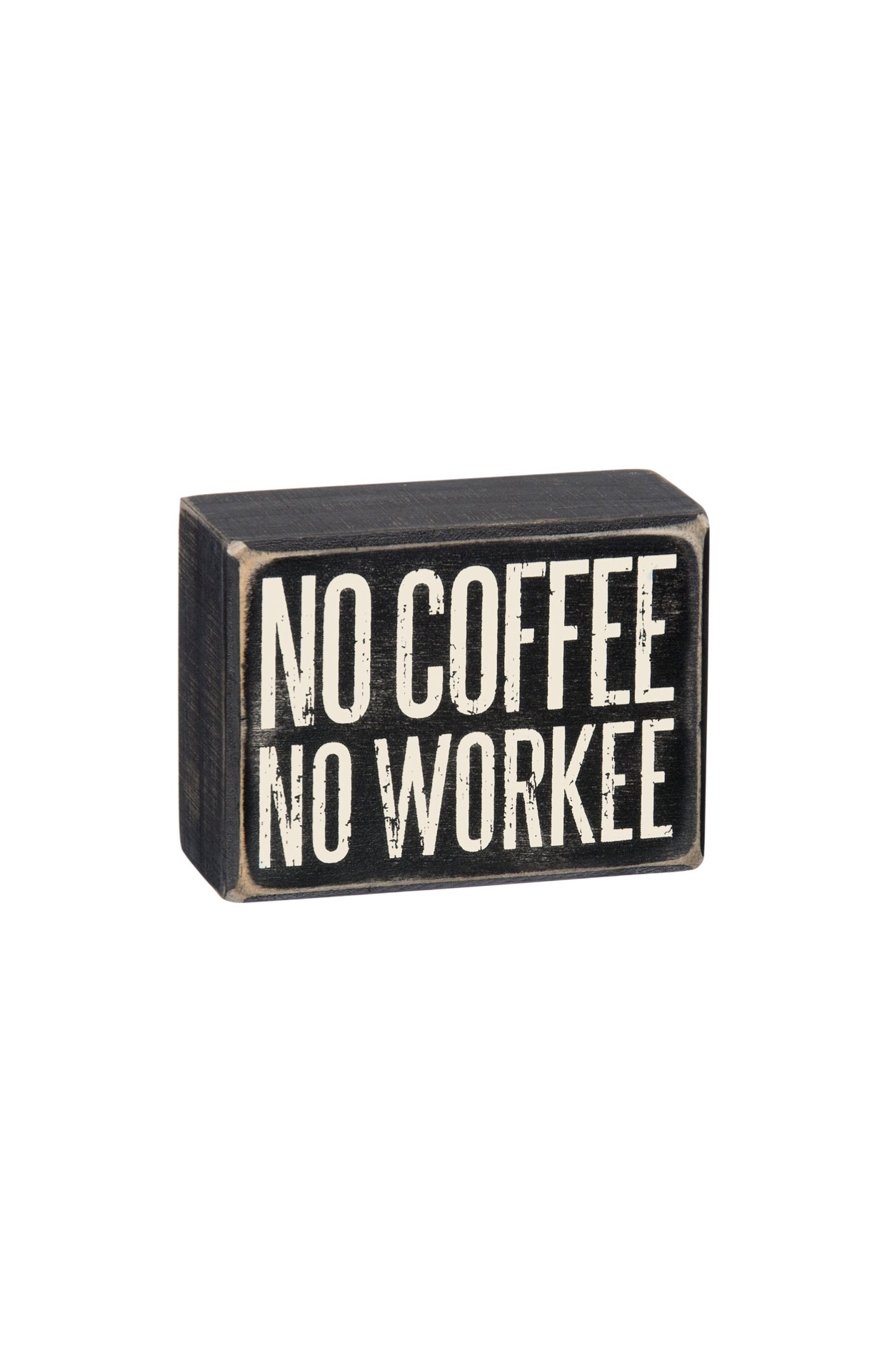 No Coffee Box Sign