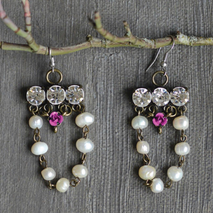 Crystal & Pearl Earrings