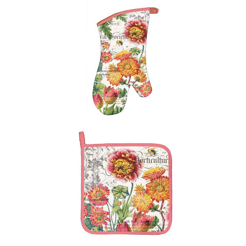 Birds & Bees Oven Mitt Set