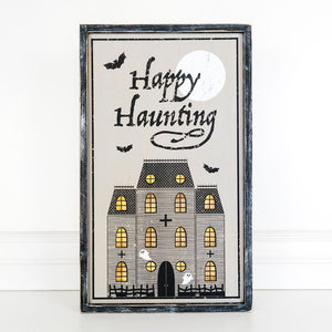 Happy Haunting Light Up Sign