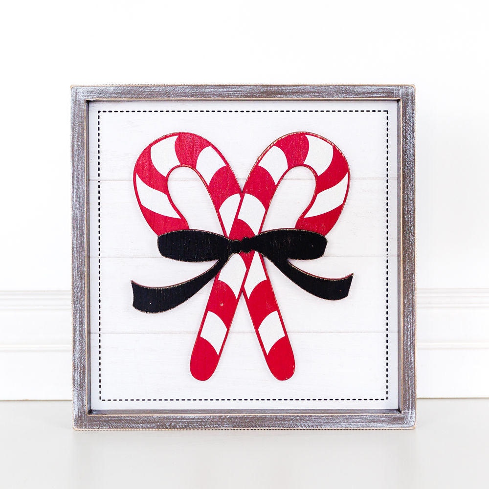 Double Candy Cane Sign