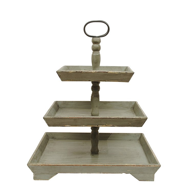 Wooden Tiered Tray