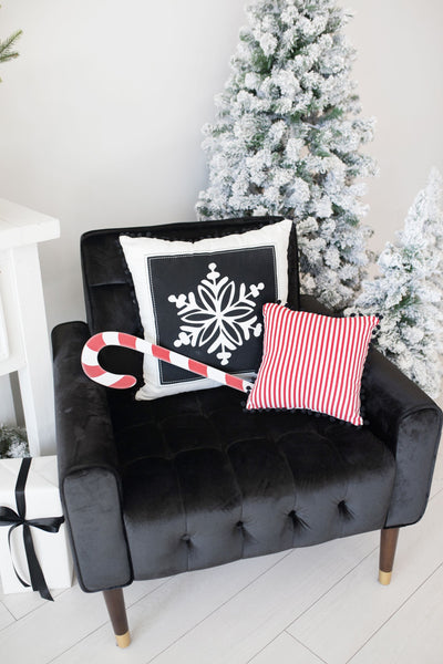 Two Tone Snowflake Pillow