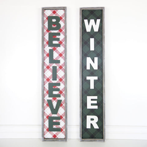 Buffalo Check Reversible Sign
