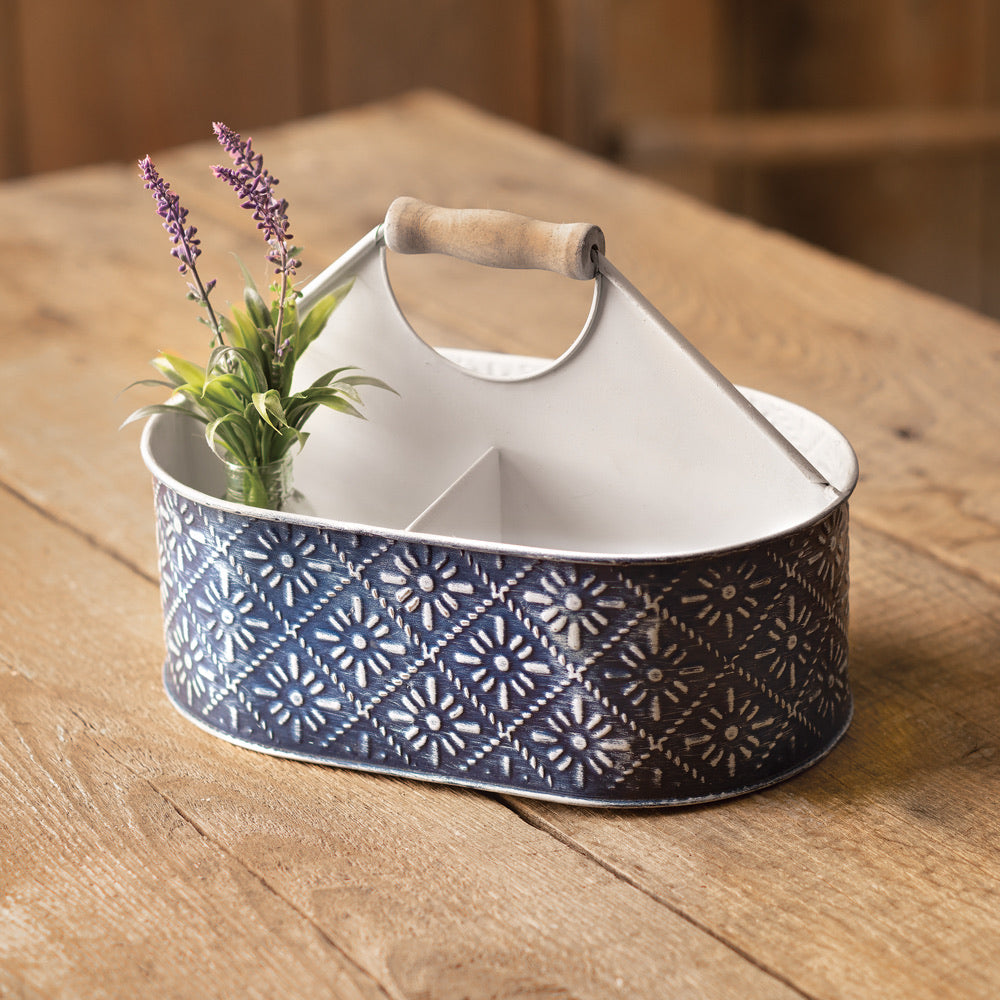 Navy Floral Caddy