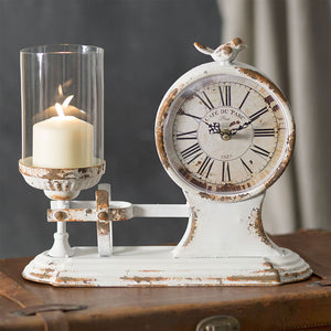 Candle Holder and Clock