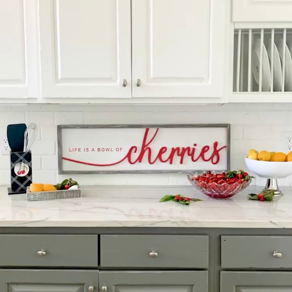 Reversible Cherries Sign