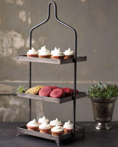 Three Tiered Metal Display