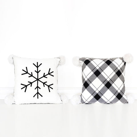 Reversible Snowflake Pillow