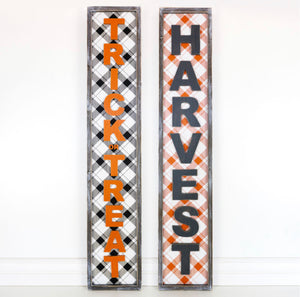 Reversible Harvest- Trick or Treat Sign
