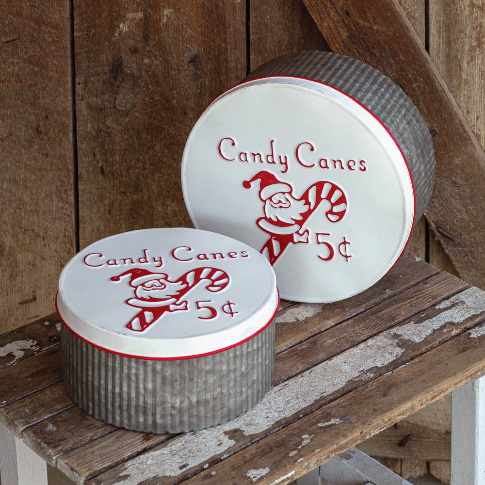 Candy Cane Tin Set
