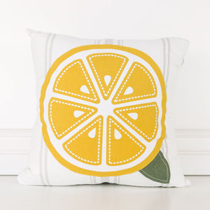 Reversible Lemon Pillow