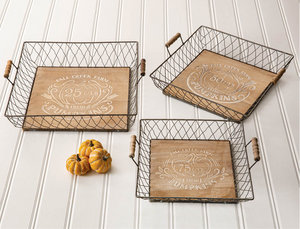 Autumn Wire Serving Trays