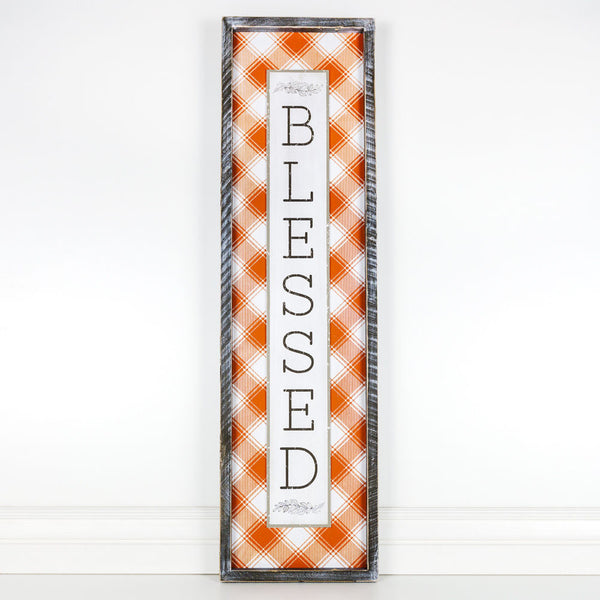 Blessed Plaid Sign