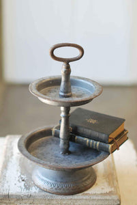 Pewter Two-Tiered Tray