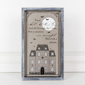 All Hallows Eve Sign