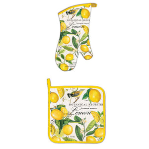 Lemon Oven Mitt Set