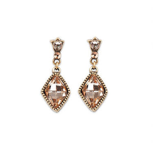 Peach Crystal Earrings