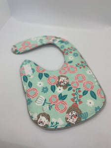 Hedgehog Floral bib