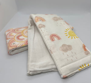 All Kinds of Weather Burp Cloth Set