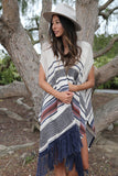Easy Rider Sleeveless Cape in Tradewinds