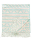 Aztec Throw in Breeze 'LAST ONE IN EACH SIZE'