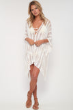 Babetown Sheer Poncho w/ Lace Up Detail in Island Breeze