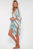 Babetown Sheer Poncho w/ Lace Up Detail in Living Easy