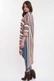 Bardot Open Slit Longline Knit Cardigan in Desert Dream 'LAST ONE'