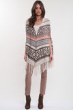Benson Open Front Poncho in Vintage Vogue