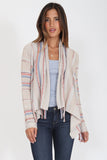 Biya Fringe Cardigan in Coral Essence